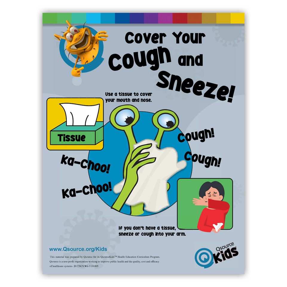 Spreading Germs - Cough Sneeze Cover Please
