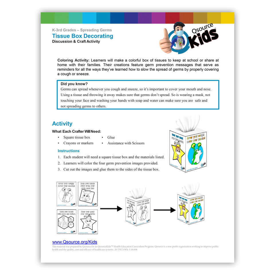Spreading Germs - Tissue Box Decorating Activity